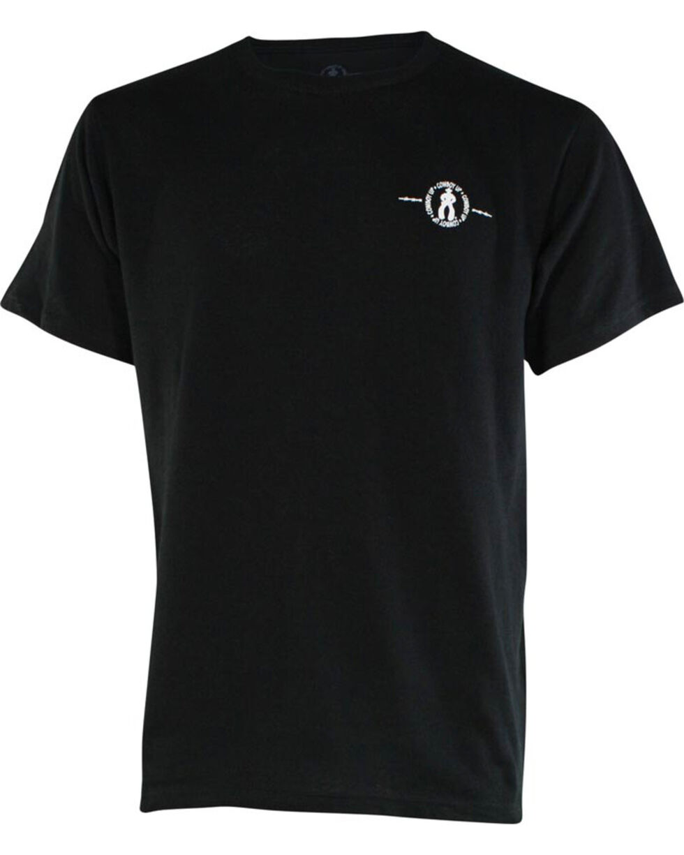 """Cowboy Up Men's """"Are You Gonna"""" Graphic Tee, Black, hi-res"""