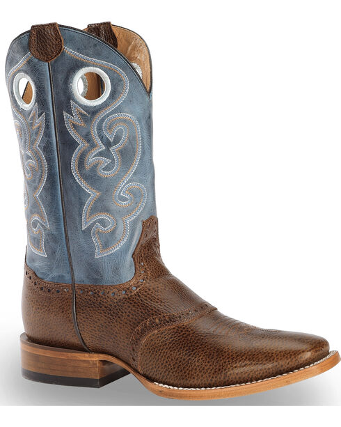 Cody James Men's Saddle Vamp Western Boots - Square Toe, Brown, hi-res