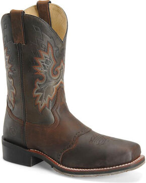 "Double-H Men's 11"" Square Toe ICE Roper Boots, Brown, hi-res"
