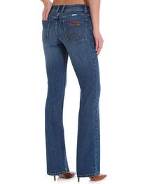 Wrangler Women's Light Blue Retro Mae Leather Trim Mid-Rise Jeans - Boot Cut , , hi-res