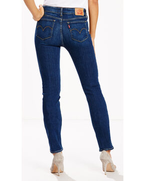Levi's Women's 714 Stretch Fit Jeans - Straight Leg , Indigo, hi-res