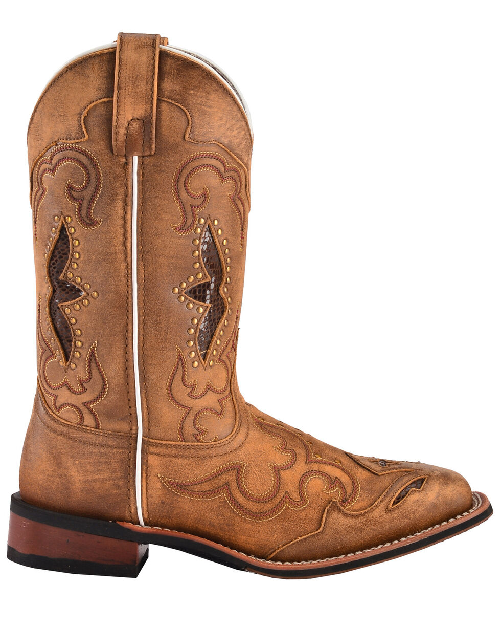 Laredo Women's Spellbound Western Boots - Square Toe  , Tan, hi-res