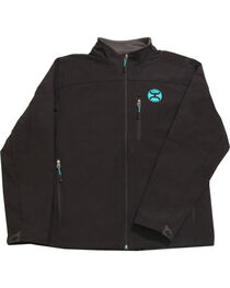 Hooey Men's Black Soft Shell Fleece Lined Jacket , , hi-res