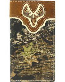 Nocona Men's Camo Wallet and Checkbook Cover, , hi-res