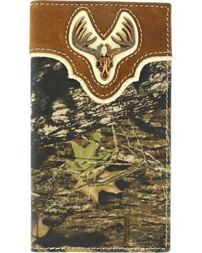 Nocona Men's Camo Wallet and Checkbook Cover, Mossy Oak, hi-res