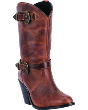 Dingo Women's Nelly Fashion Western Boots, Brown, hi-res