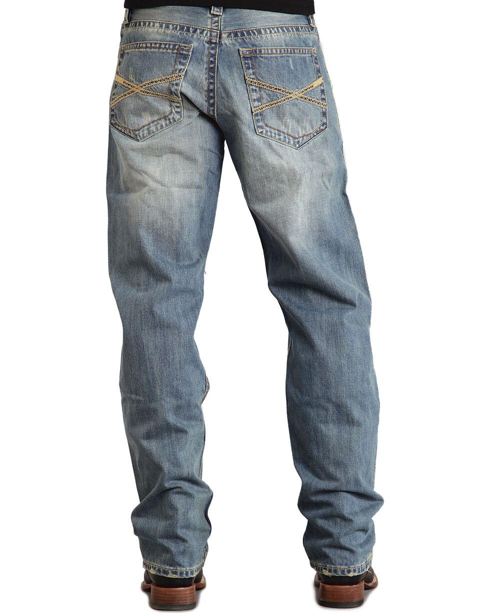 Stetson Men's Premium Standard Fit Boot Cut Jeans, Med Wash, hi-res
