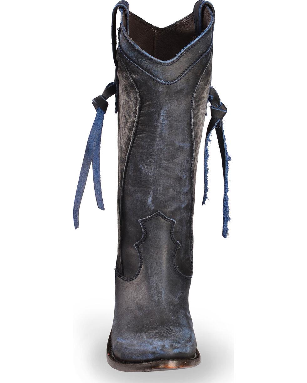 Liberty Black Women's Azul Vintage Delano Cott Boots - Round Toe , Blue, hi-res