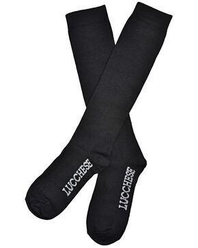 Lucchese Women's Black Knee-High Socks , Black, hi-res