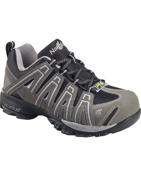 Nautilus Men's ESD  Lace Up Work Shoes, Grey, hi-res