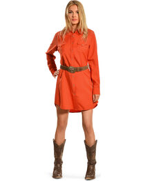 Cowgirl Justice Women's Cinnamon Shirt Dress, , hi-res