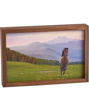 BB Ranch Mini Scenic Horse Wooden Sign, Multi, hi-res