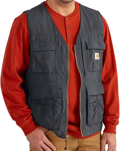 Carhartt Men's Briscoe Vest - Big & Tall, Grey, hi-res