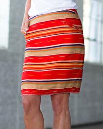 Ryan Michael Women's Red Serape Skirt , , hi-res