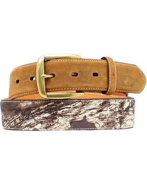 Nocona Mossy Oak Camo Billet Belt, Mossy Oak, hi-res