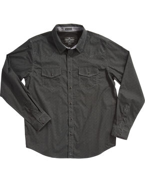 Cody James Men's Marble Falls Long Sleeve Shirt - Tall, Black, hi-res