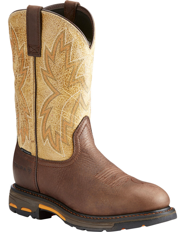 Cheapest Price Online Ariat Workhog Raptor Composite Toe Work Boot(Men's) -Earth Leather Discount Countdown Package Buy Cheap Good Selling 2018 Online Clearance Professional SYt9x
