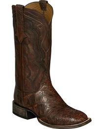 Lucchese Brick Giant Gator Vince Cowboy Boots - Square Toe , , hi-res