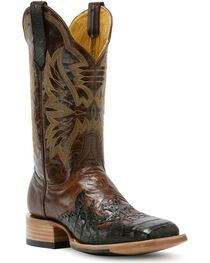 Cinch Women's Caiman Embroidered Exotic Boots, , hi-res