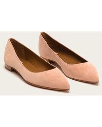 Frye Women's Blush Suede Sienna Ballet Shoes , , hi-res