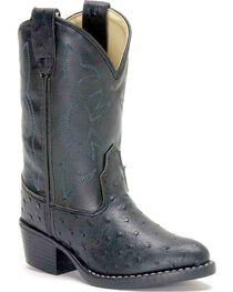 Jama Children's Ostrich Print Western Boots, , hi-res