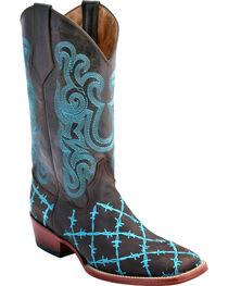 Ferrini Women's Barbed Wire Western Boots - Square Toe, , hi-res