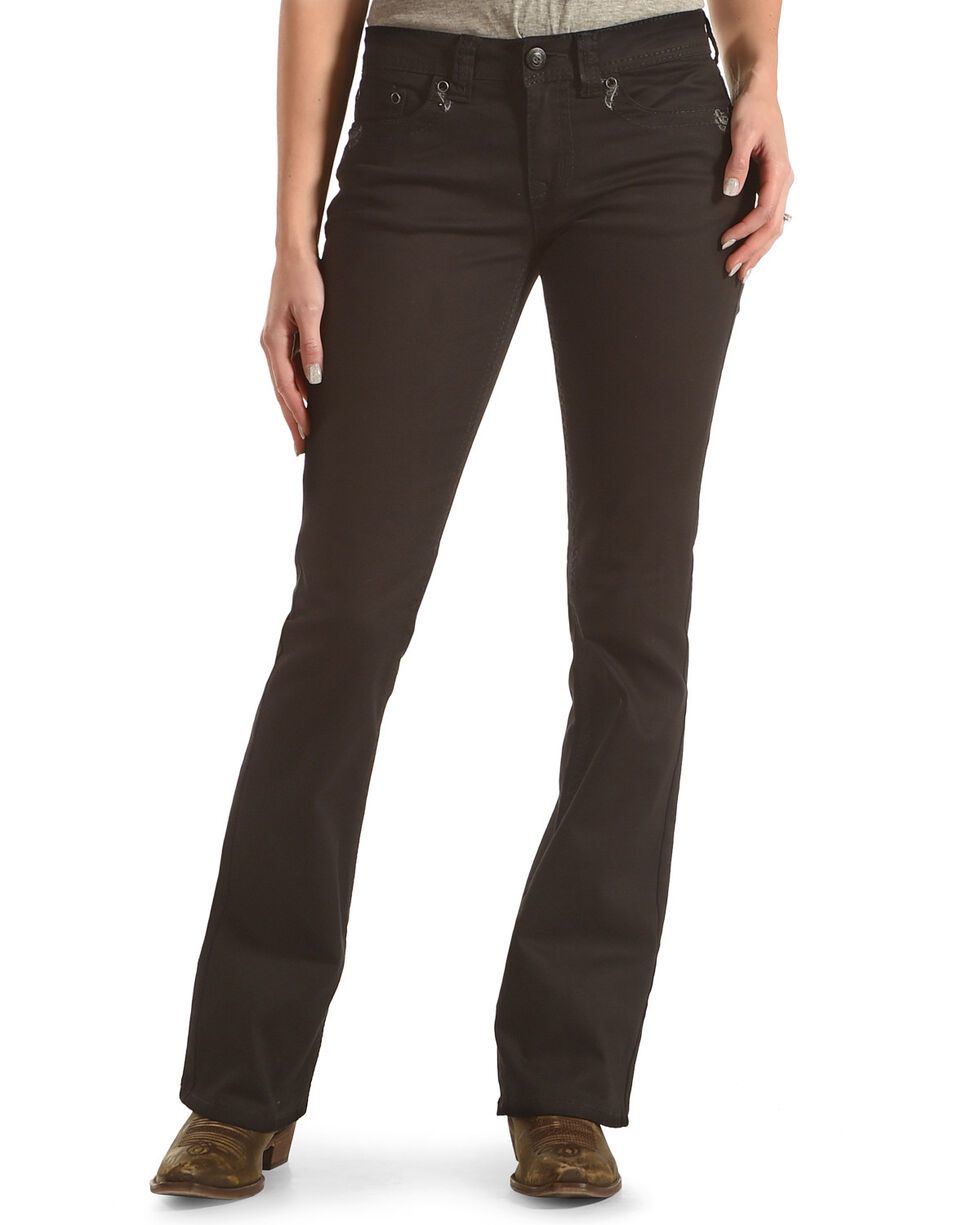 Shyanne Women's Mid-Rise Jeans with Flap Pocket - Boot Cut, , hi-res
