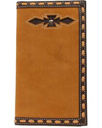 Ariat Laced Edge & Aztec Inlay Rodeo Wallet, , hi-res