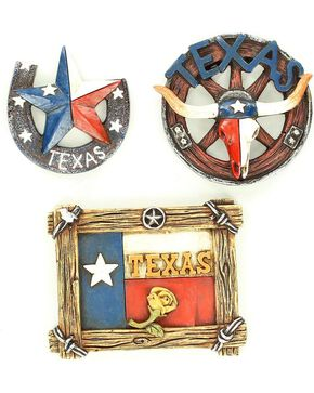 M&F Lone Star 3 Piece Magnet Set, Multi, hi-res