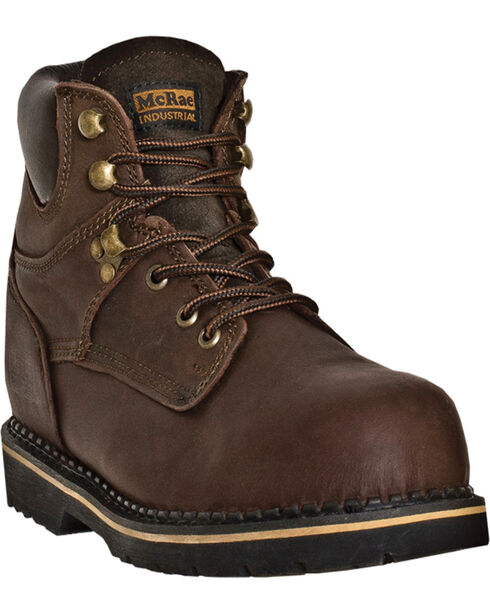 "McRae Industrial Men's Ruff Rider 6"" Work Boots, Dark Brown, hi-res"