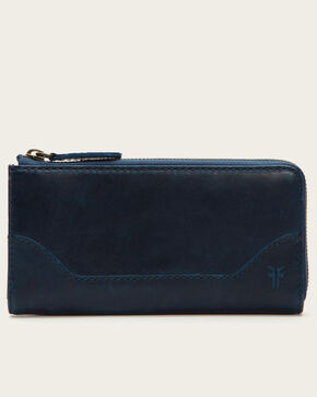 Frye Women's Melissa Zip Wallet, Navy, hi-res