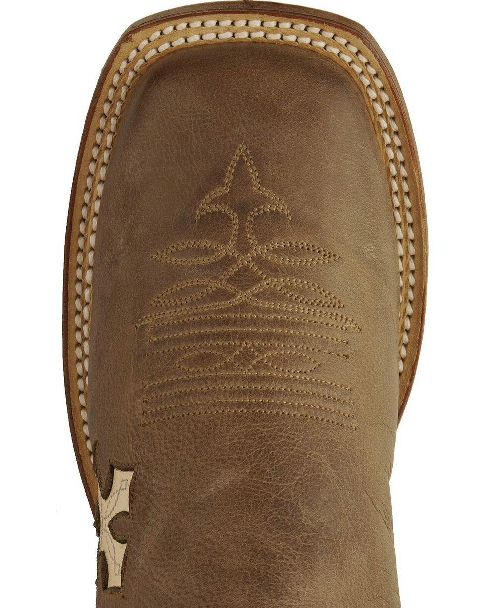 Tony Lama Women's San Saba Cross Western Boots, Tan, hi-res