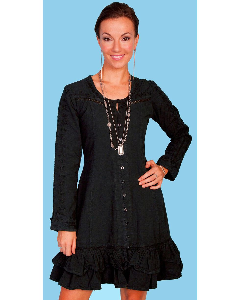 Scully Button Front Dress, Black, hi-res