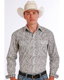 Panhandle Slim Men's Black Vivola Vintage Print Long Sleeve Shirt , , hi-res