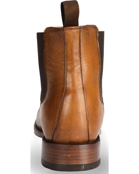 El Dorado® Men's Tan Leather Pull-On Urban Roper Boots - Round Toe, Tan, hi-res