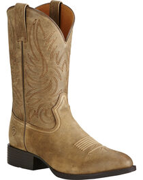 Ariat Men's Brown Heritage Hickok Boots - Medium Toe, , hi-res