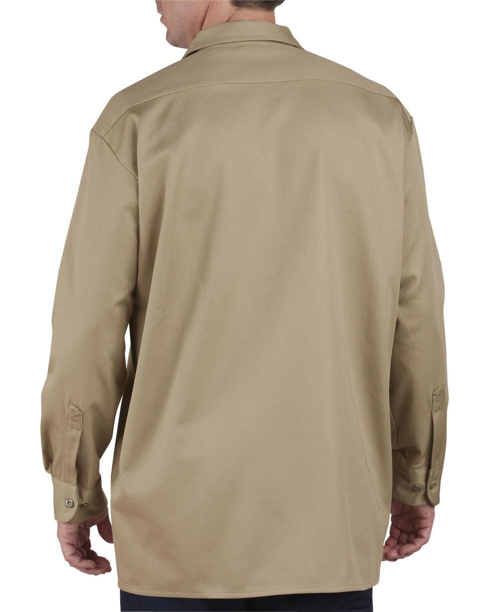 Dickies Heavyweight Cotton Work Shirt, Khaki, hi-res