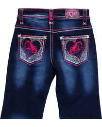 Cowgirl Hardware Toddler Girls' Horse Heart Embroidered Jeans (12MO-6T), , hi-res