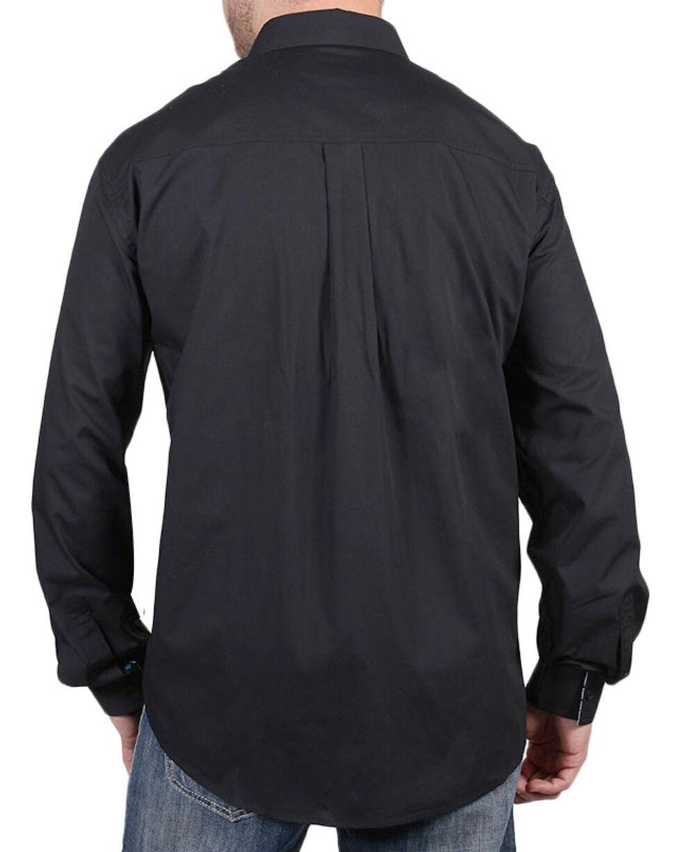 Cody James Core Men's Chute Solid Long Sleeve Shirt, Black, hi-res