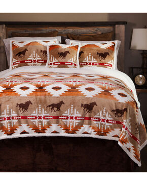 Carstens Free Rein Queen Bedding - 5 Piece Set, Orange, hi-res