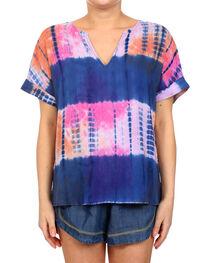 Glam Women's Tye Dye Short Sleeve Top , , hi-res