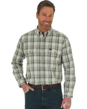 Wrangler Men's Green Riggs Foreman Work Shirt , Green, hi-res
