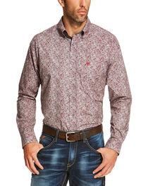 Ariat Men's Grey Seville Print Long Sleeve Shirt - Big and Tall, , hi-res