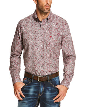 Ariat Men's Grey Seville Print Long Sleeve Shirt - Big and Tall, Grey, hi-res