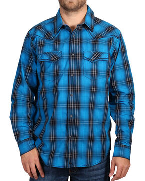 Cody James® Men's Plaid Long Sleeve Shirt, Black, hi-res