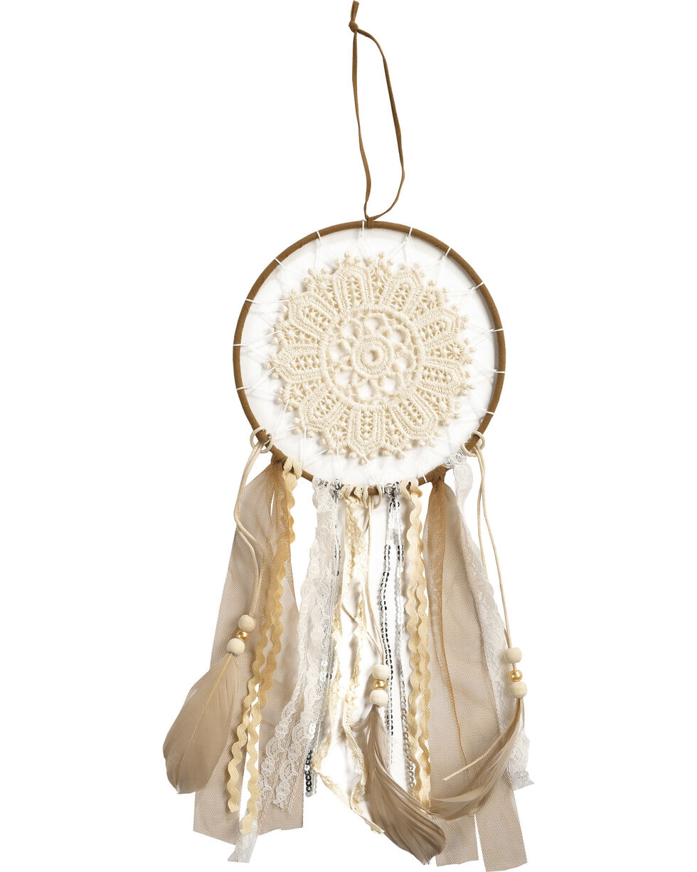 BB Ranch Crochet Lace Dream Catcher, Cream, hi-res
