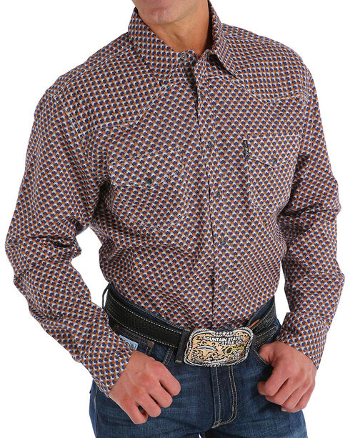 Cinch Men's Modern Fit Multi Print Long Sleeve Western Shirt, Purple, hi-res