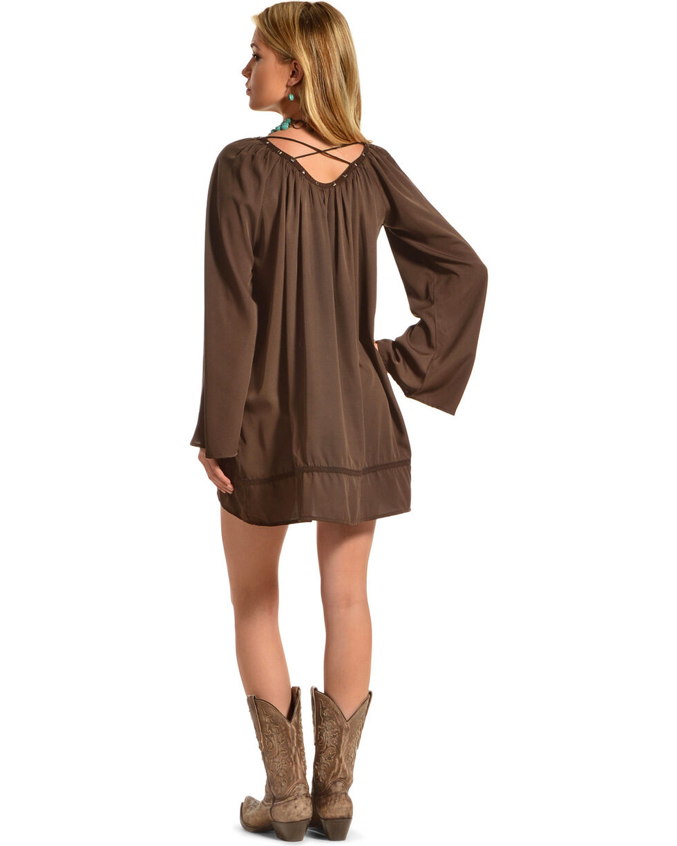 R Cinco Ranch Women's Be There Mini Dress, Brown, hi-res