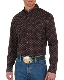 George Strait by Wrangler Print Long Sleeve Shirt, , hi-res