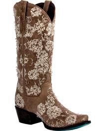 Lane Women's Wild Rose Western Boots, Tan, hi-res